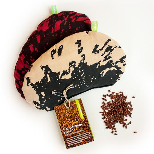 Traubenkernkissen mit Füllmaterial